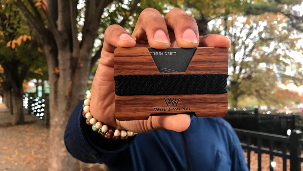 Zebra Wood Wallet, $45