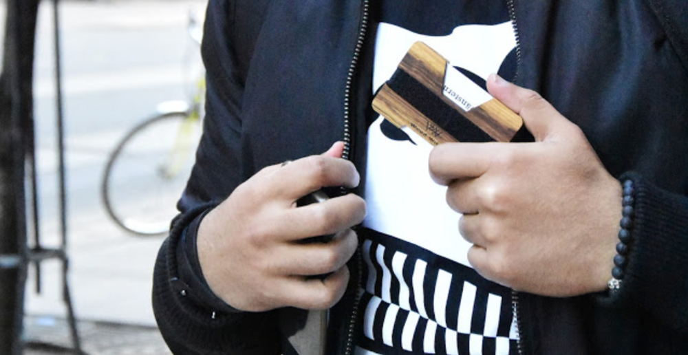 Wooden Wallet Sagr Hamden