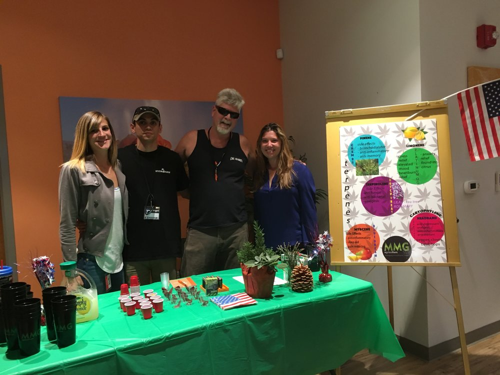 Veterans Day Carson City - MMG crew supporting our Veterans on Veterans Day at Rise Dispensary, Carson City. Teaching patients how to recognize, taste, smell and enjoy terpine profiles at our Terp Table.