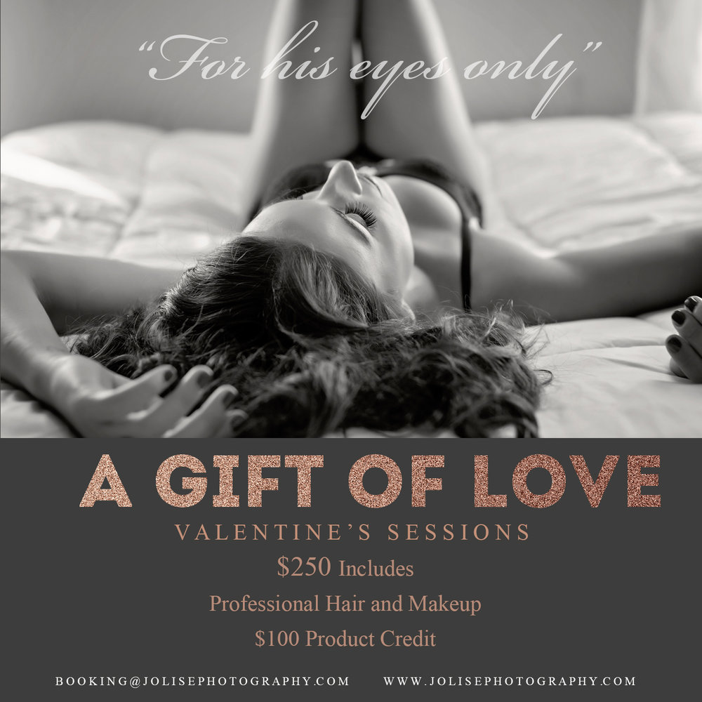 Valentines boudoir session