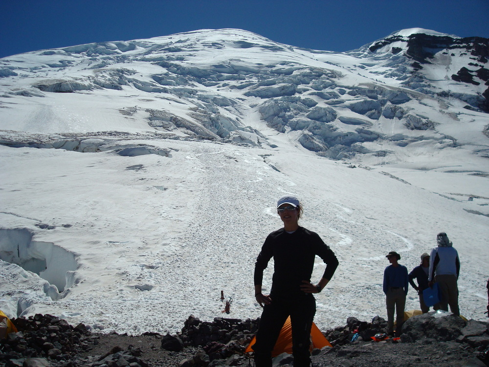 Circa 2008, below the Emmons Route on Mt. Rainier.