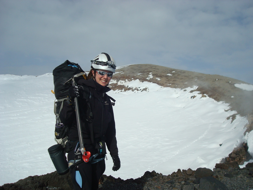 Ironically, I don't have a summit photo from my first time on the summit of Mt. Rainier.  I handed my camera to one of my climbing partners - he thought he had taken a photo - apparently, in his gloved hand, he did not.  Guess I have to go back for that photo...