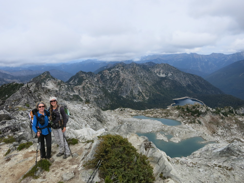 My mom and I, Alpine Lakes Wilderness.