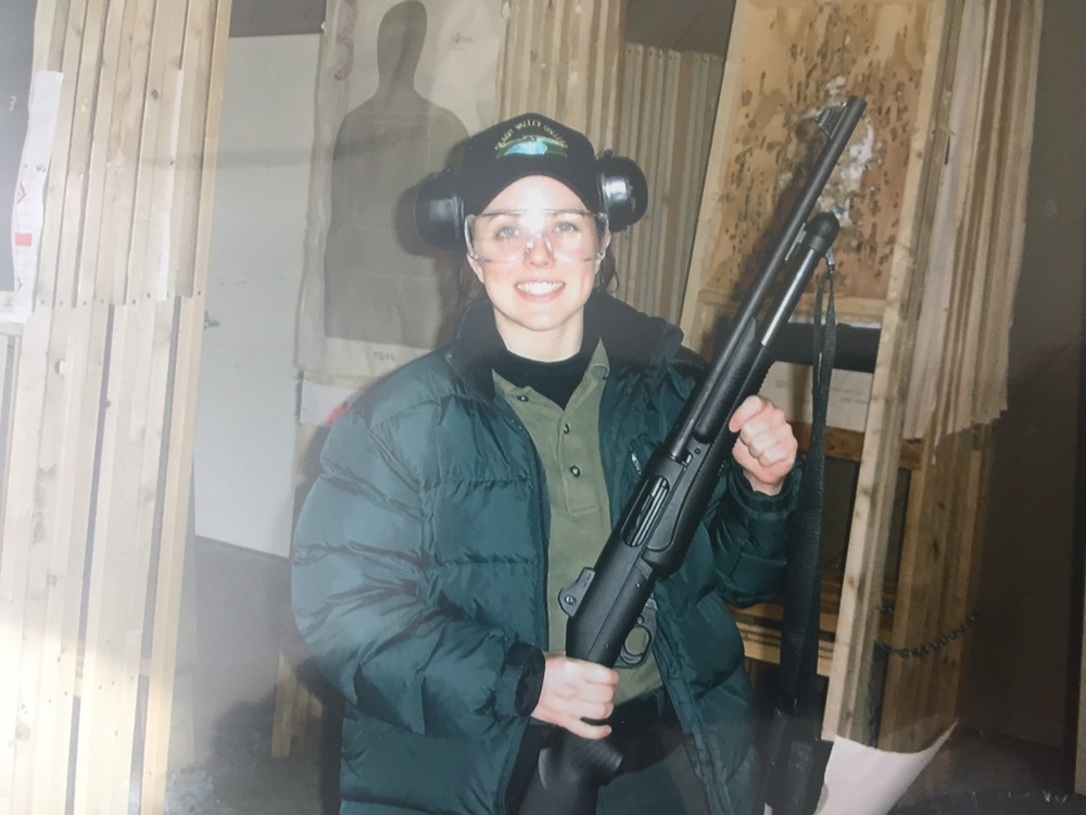 Throwback to 2005 ... looking very puffy and holding a shotgun incorrectly.  This was my first time ever firing a 12-gauge shotgun.  I was so nervous I almost puked.