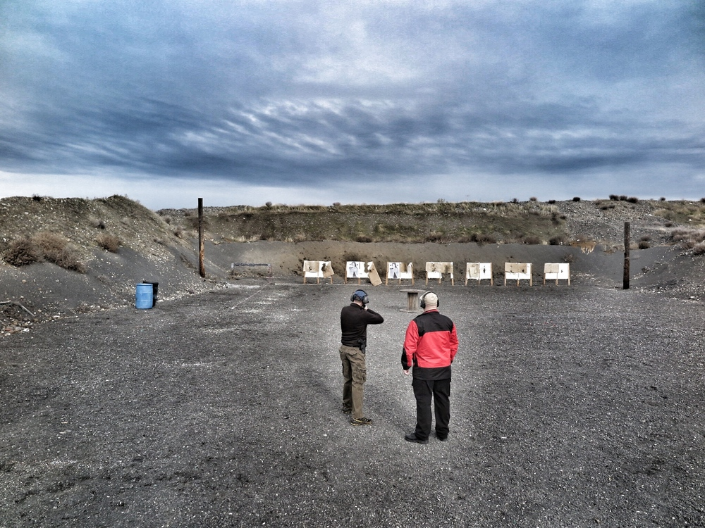 Getting in some rifle practice at the end of the day.