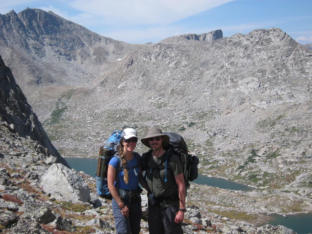 Cresting Texas Pass, Wind River Range