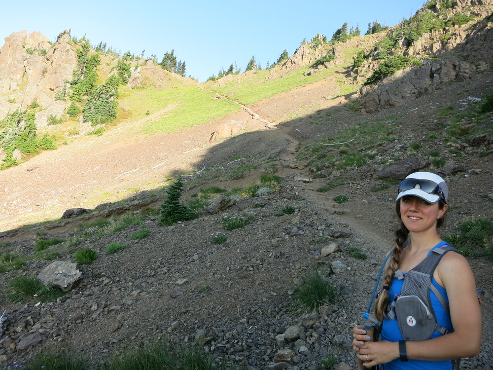 "Quick dayhike up Mt. Ellinor in the Olympic Mountains ... I'm wearing the Ultimate Direction ""Wink"" pack in this photo."