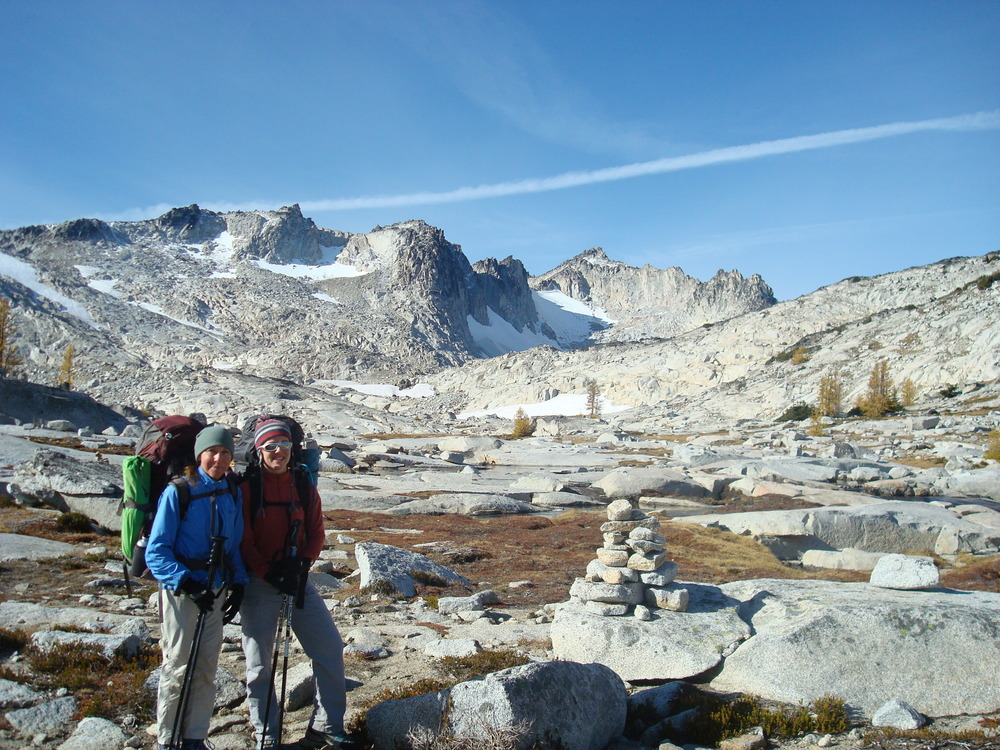 Mom and I in the Upper Enchantments, Alpine Lakes Wilderness.