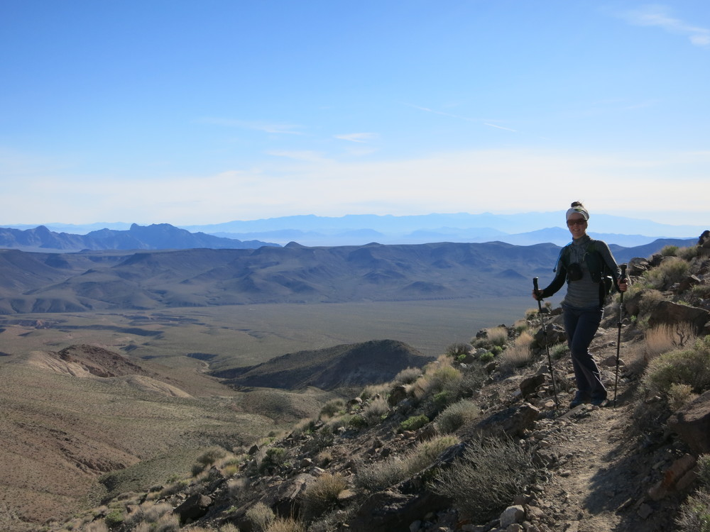 Accessorizing appropriately - a hike in Death Valley in March, even if you are climbing a mountain, does not typically require an ice axe.