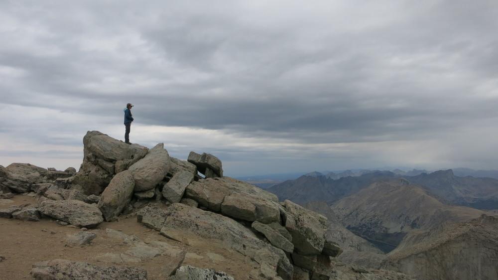 Summit of Wind River Peak, 13,192'.