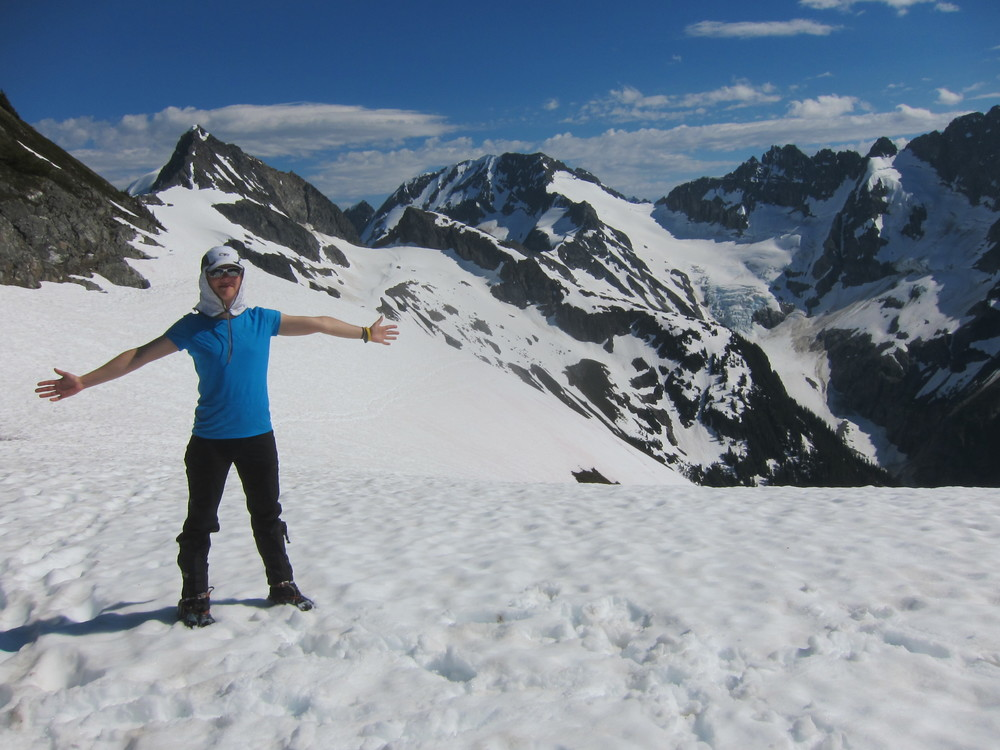 Standing at Cache Col - with day 2 of the route behind me.