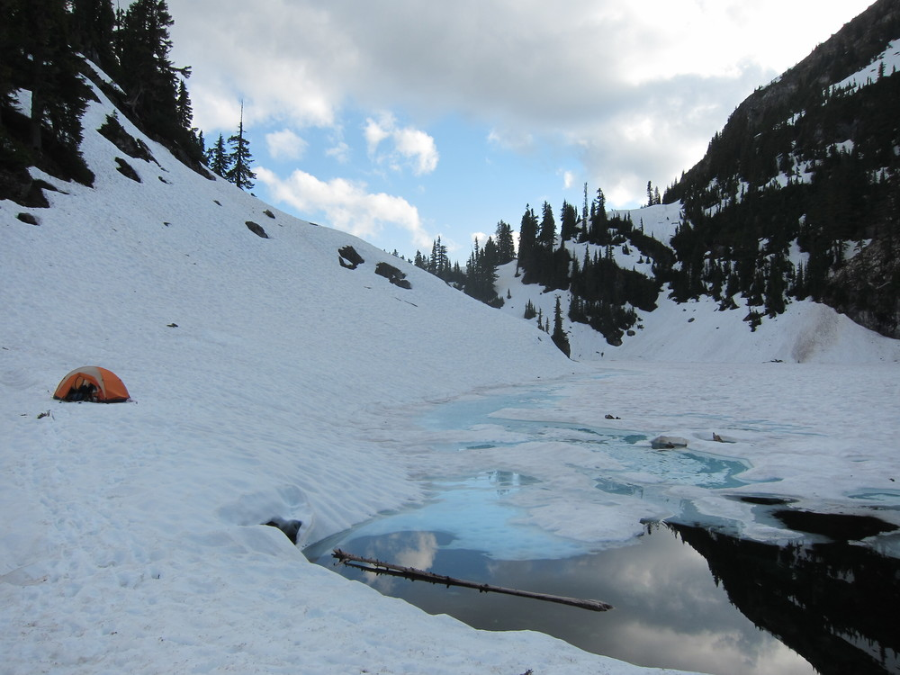 Final campsite of the traverse at Cub Lake.