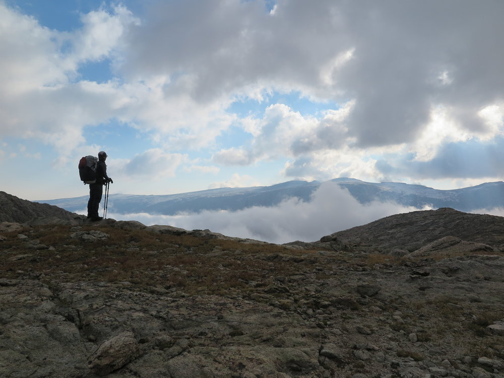 A small break in the clouds.