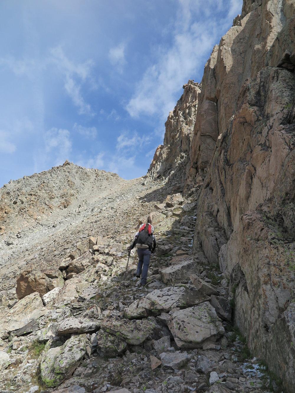 Nearing Douglas Peak Pass.
