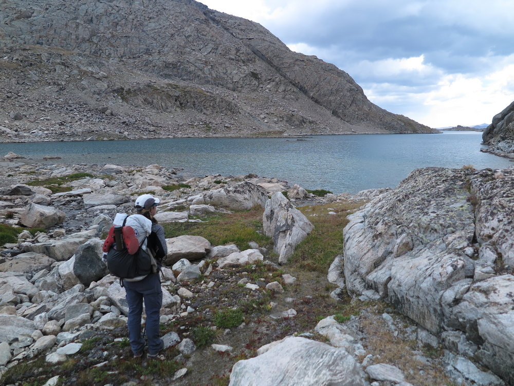 A rare patch of grass during the rock-hopping through Alpine Lakes Basin.