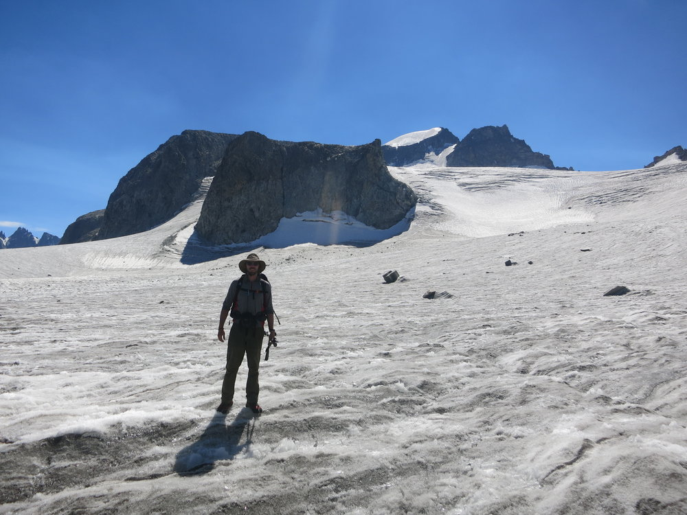 On the Gannett Glacier, below Gannett Peak.