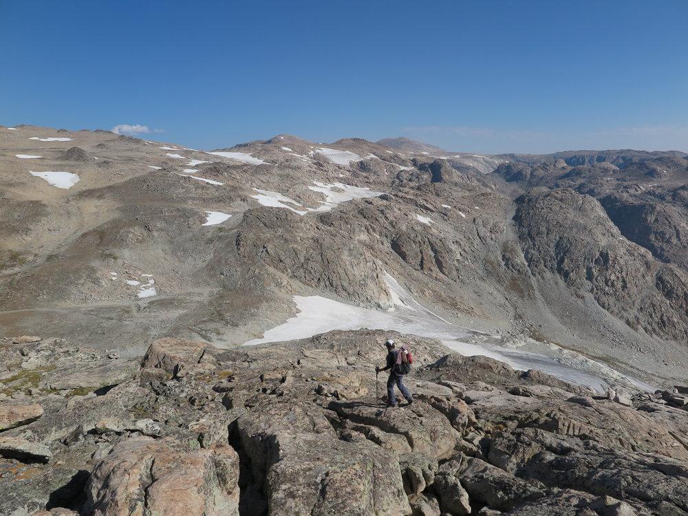 Heading towards Iceberg Lake Pass. Barren landscape at its finest.