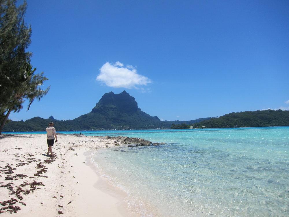 View of Otemanu from Motu Tapu.