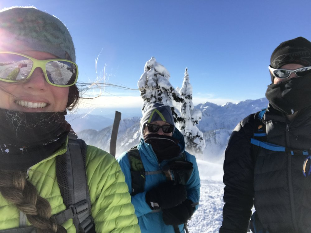 Freezing our noses off at Artist Point, Mt. Baker.