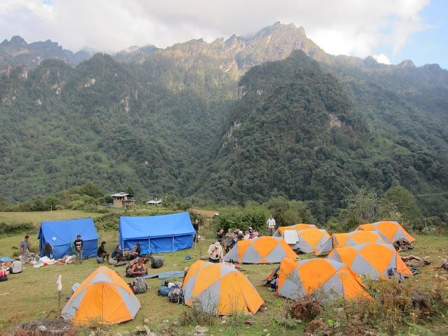 Final campsite in Gasa.