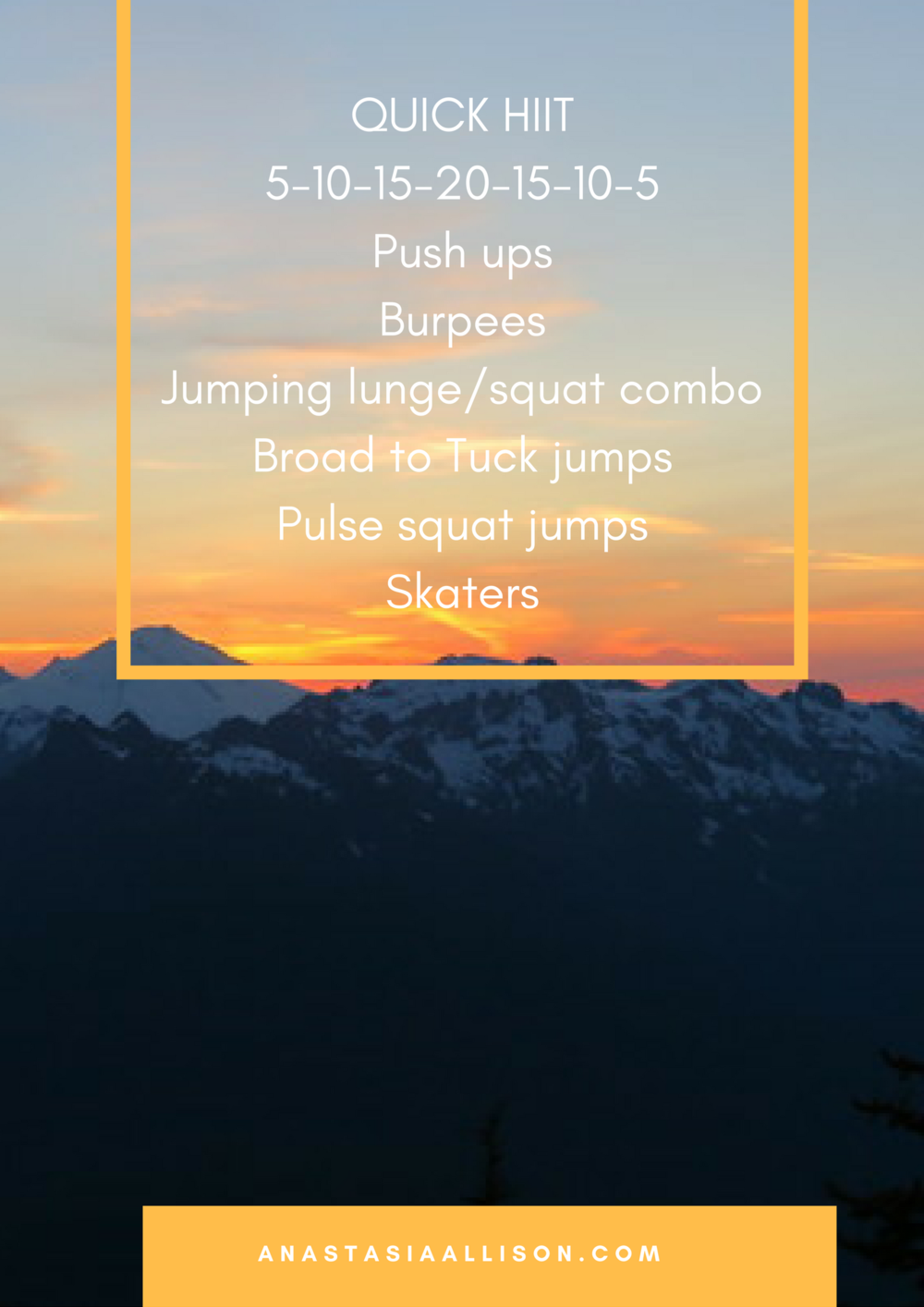 QUICK HIIT