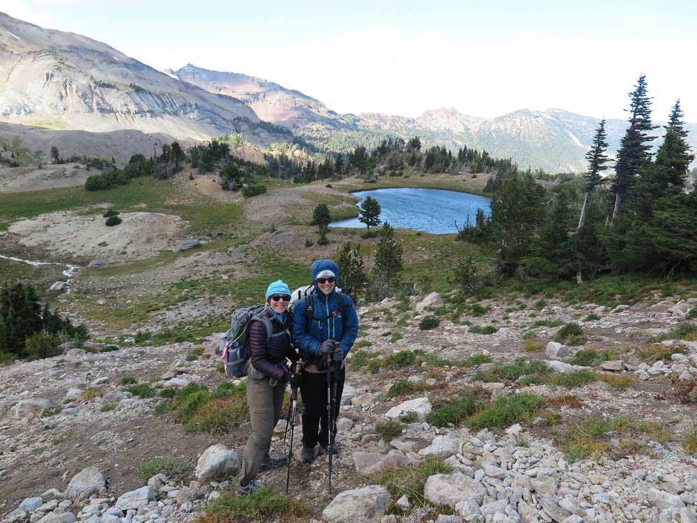 One one of our many trips together with less than spectacular weather - Warm Lake, Conrad Basin (Goat Rocks Wilderness).