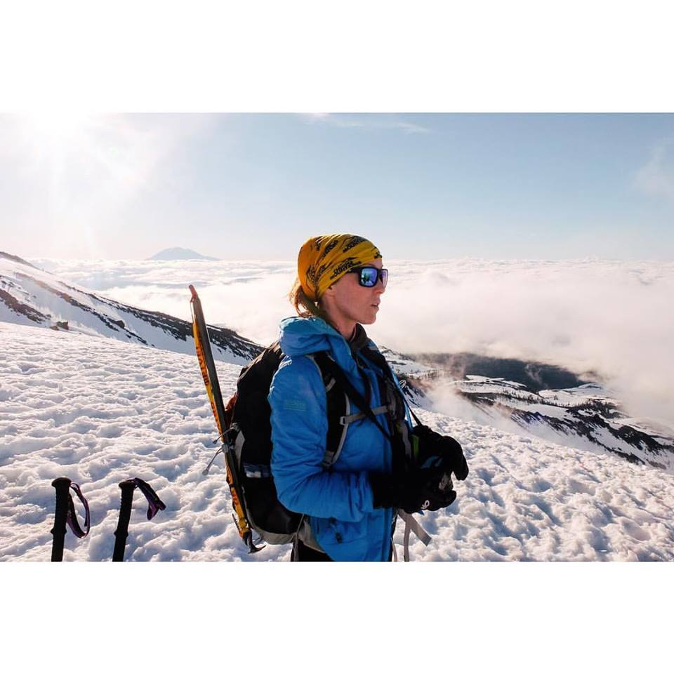 Taryn on Mt. Saint Helens (photo by Sonia Mededovic).