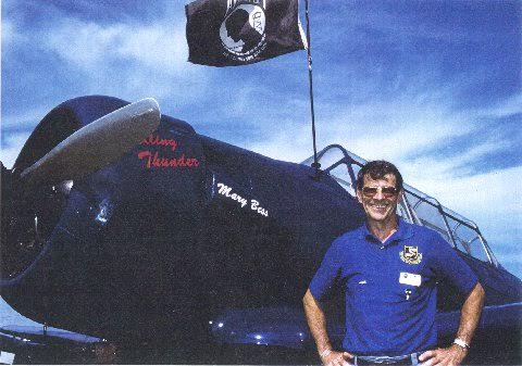 Mark Berent, with his t-6