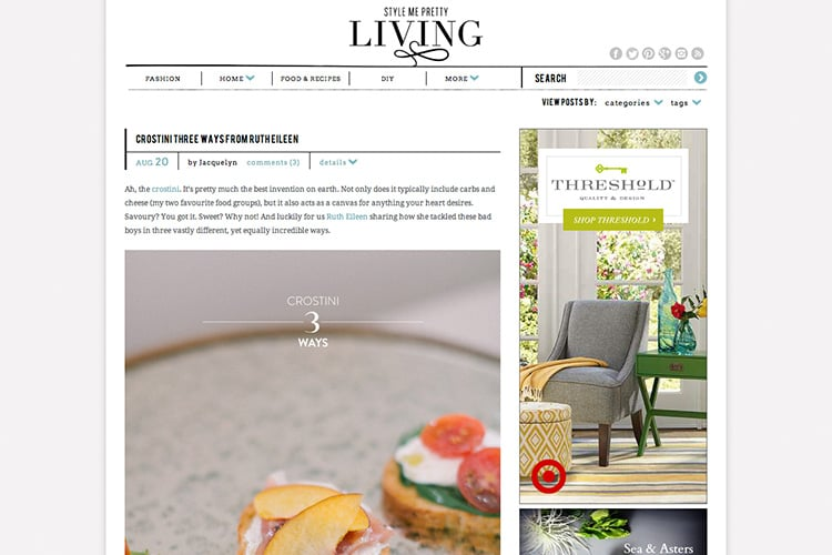 SMP Living Feature - Crostinis
