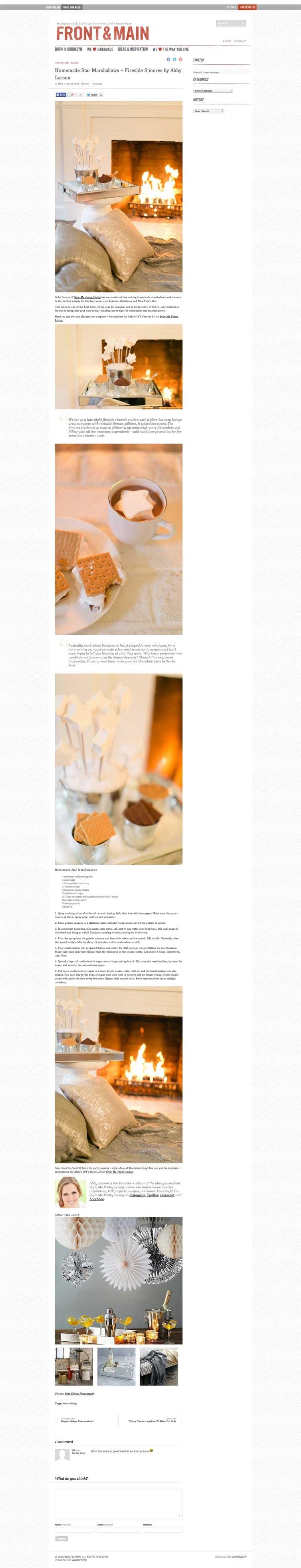 Homemade Star Marshmallows + Fireside S'mores