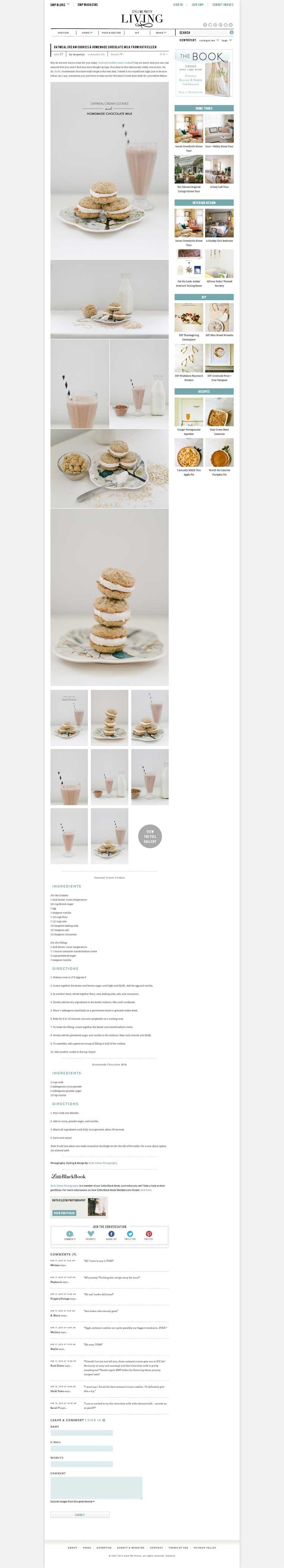 Oatmeal Cream Cookies & Homemade Chocolate Milk