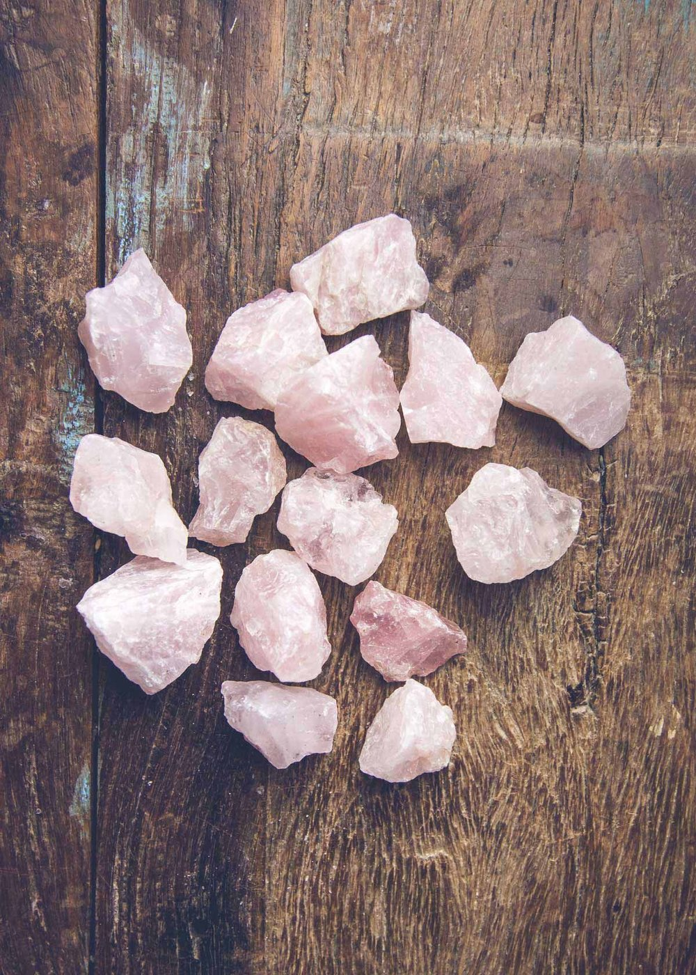 A pile of Rose Quartz.