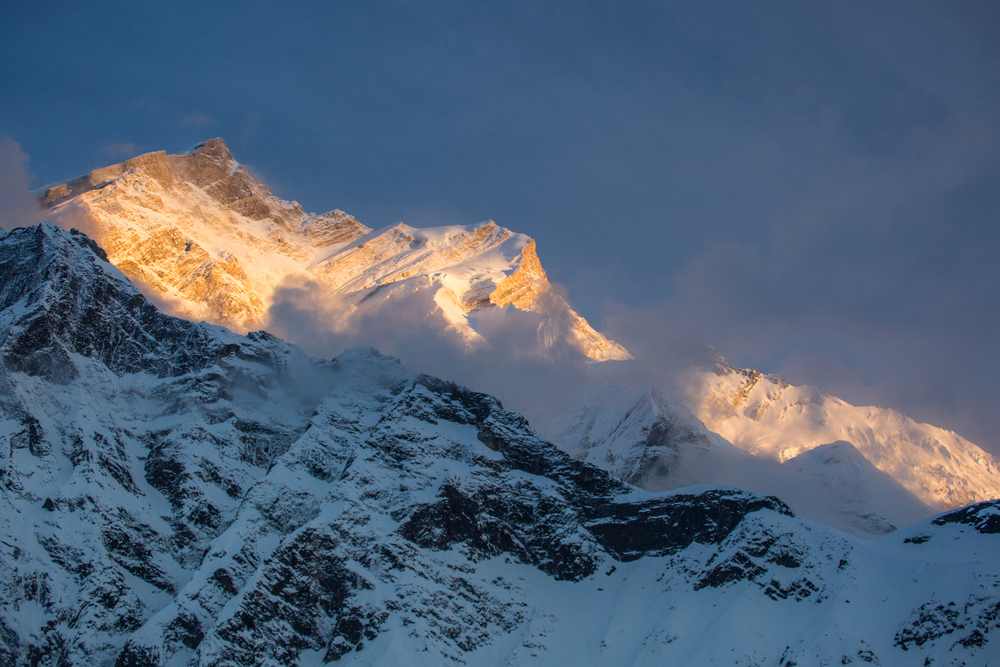 Annapurna 1 8,091 meters. As seen from Annapurna North Face basecamp. photo: cody tuttle