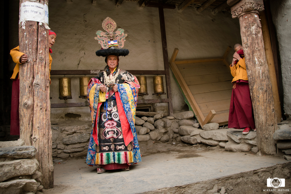 Monks from Lo Manthang prepare for the TiJi Festival. Photo: Nick Greece