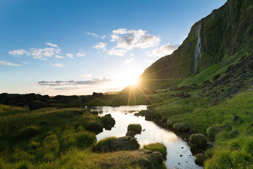 Chasing the golden hour near one of Iceland's several rural waterfalls. Photo:  Cody Tuttle
