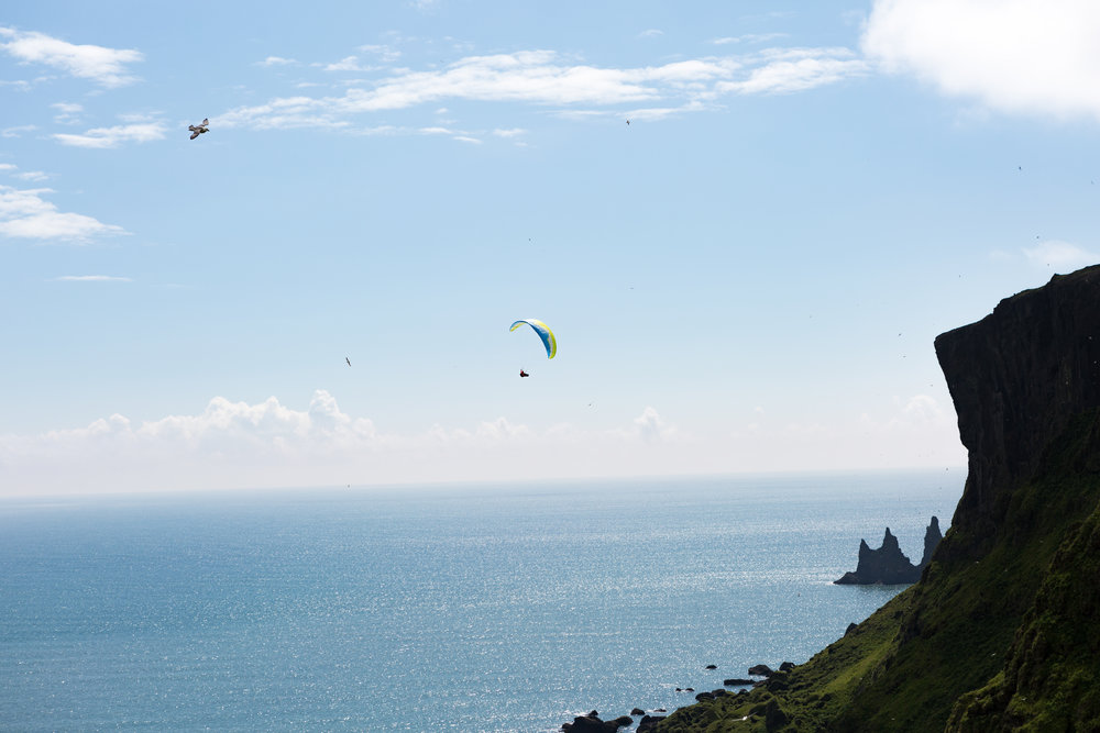 Endless soaring of the coast of Vik. Photo:  Chris Harder