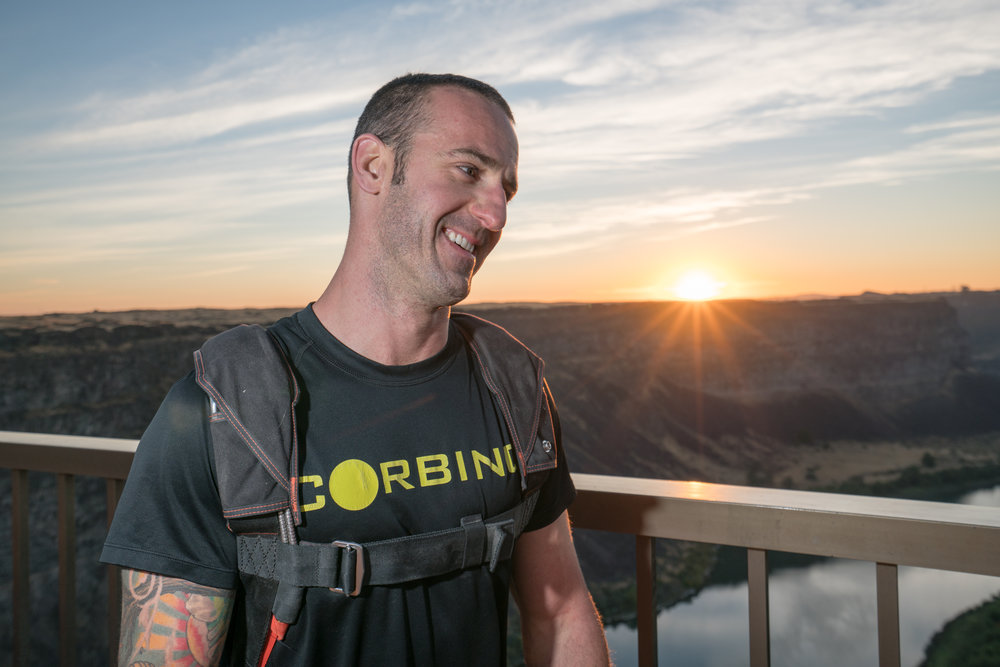 Danny Weiland, BASE Jumper and World Record Holder. Photo by Scott Rogers