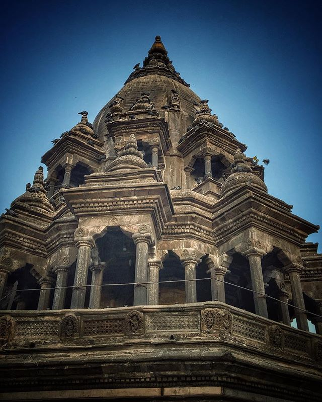 Ancient history being restored after the April 2015 earthquake in Kathmandu.  Photo: @codytutts #iphonephotography #durbarsquare #explorenepal