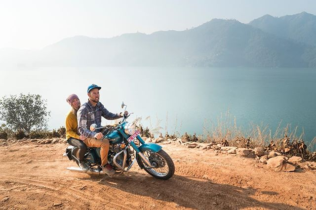 Check out this new account @inverted_life by @codytutts and @cherisetuts as they share their stories from around the world! Our new film #dustsurfers follows them on their journey to the Tibetan border in search of new wild locations to speed fly! Don't miss it!  #royalenfield #nepal #exploringtheglobe