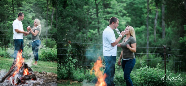 campfire engagement session kentucky