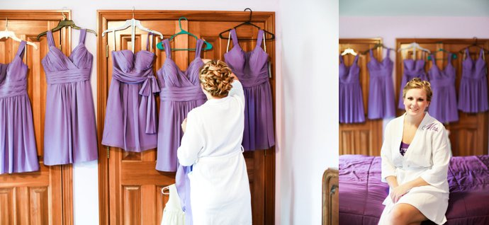 Bride with Bridesmaids dresses