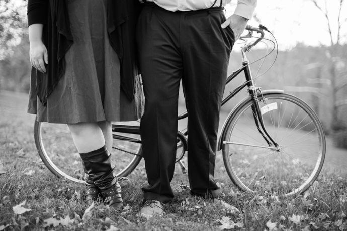 vintage bike engagement