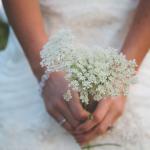 makeshift wedding flowers