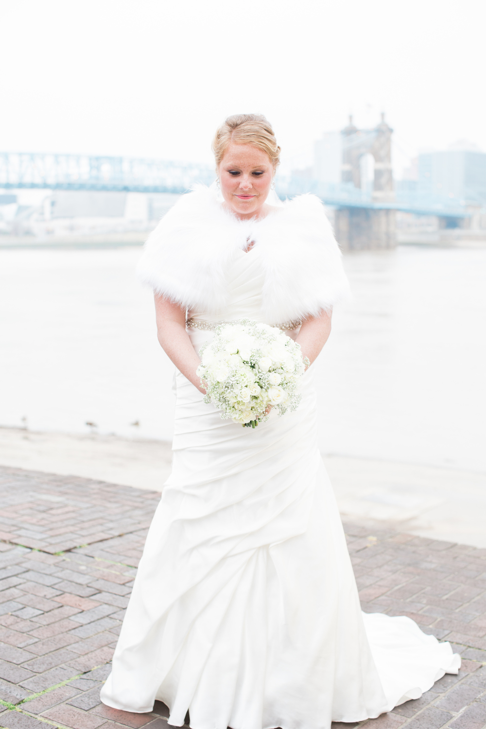 Bride at Riverside Drive Covington, Kentucky
