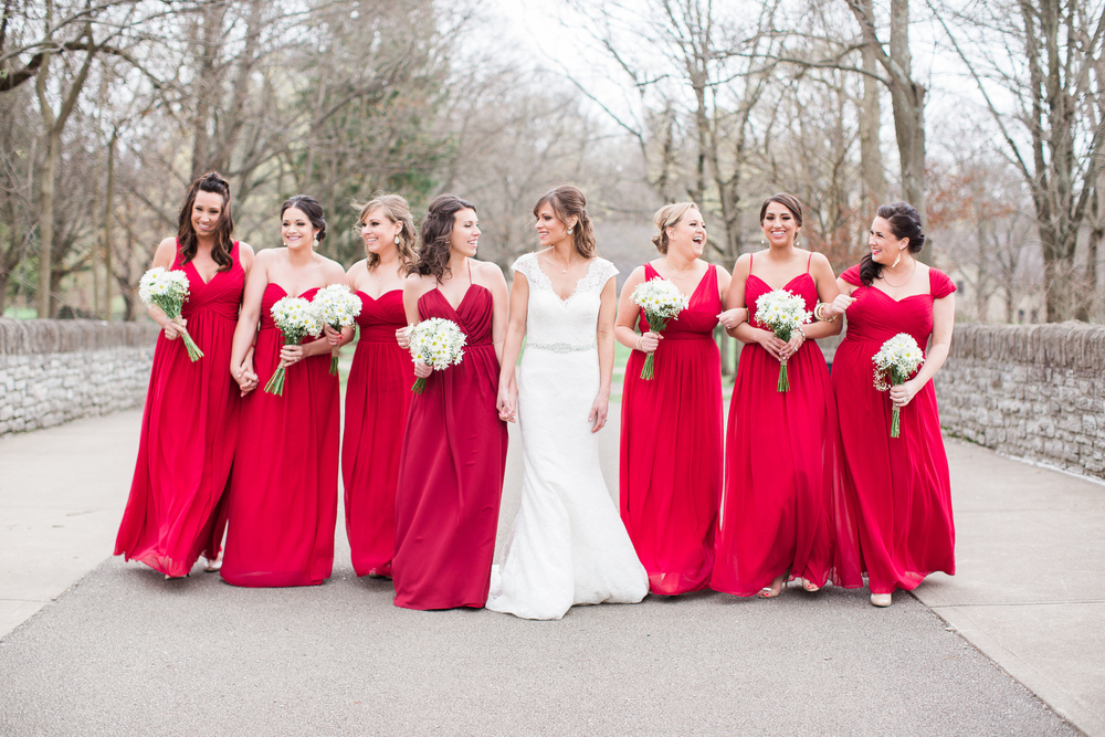 Bridemaids at Sharon Woods in Ohio