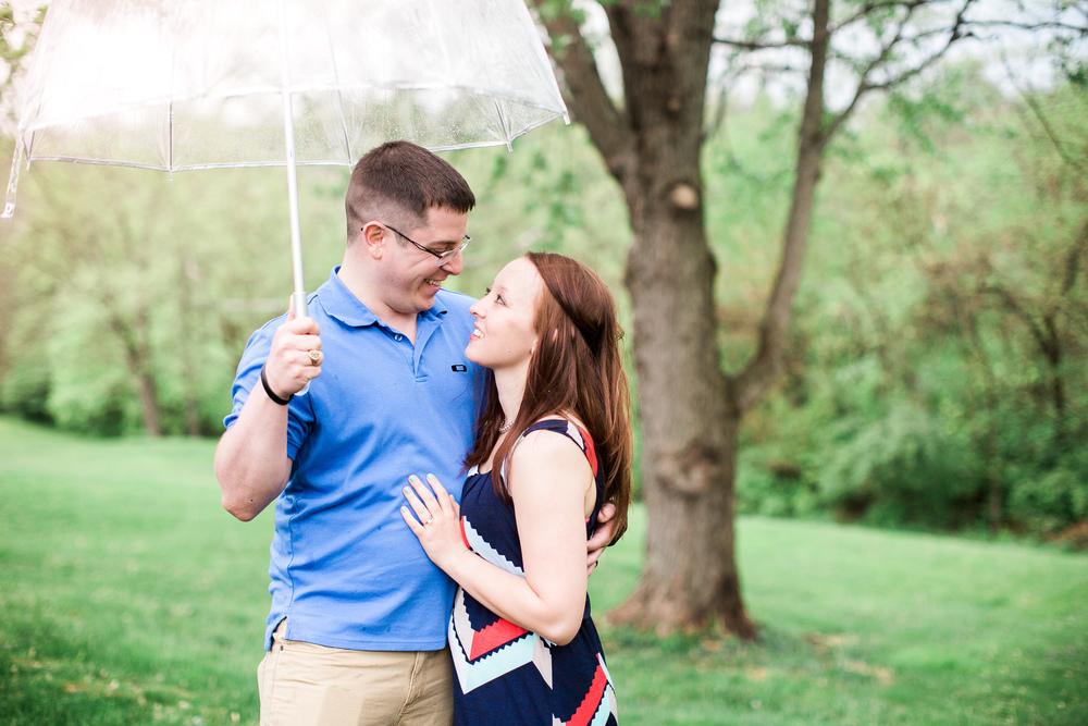 Couple under umbrella alexandria kentucky