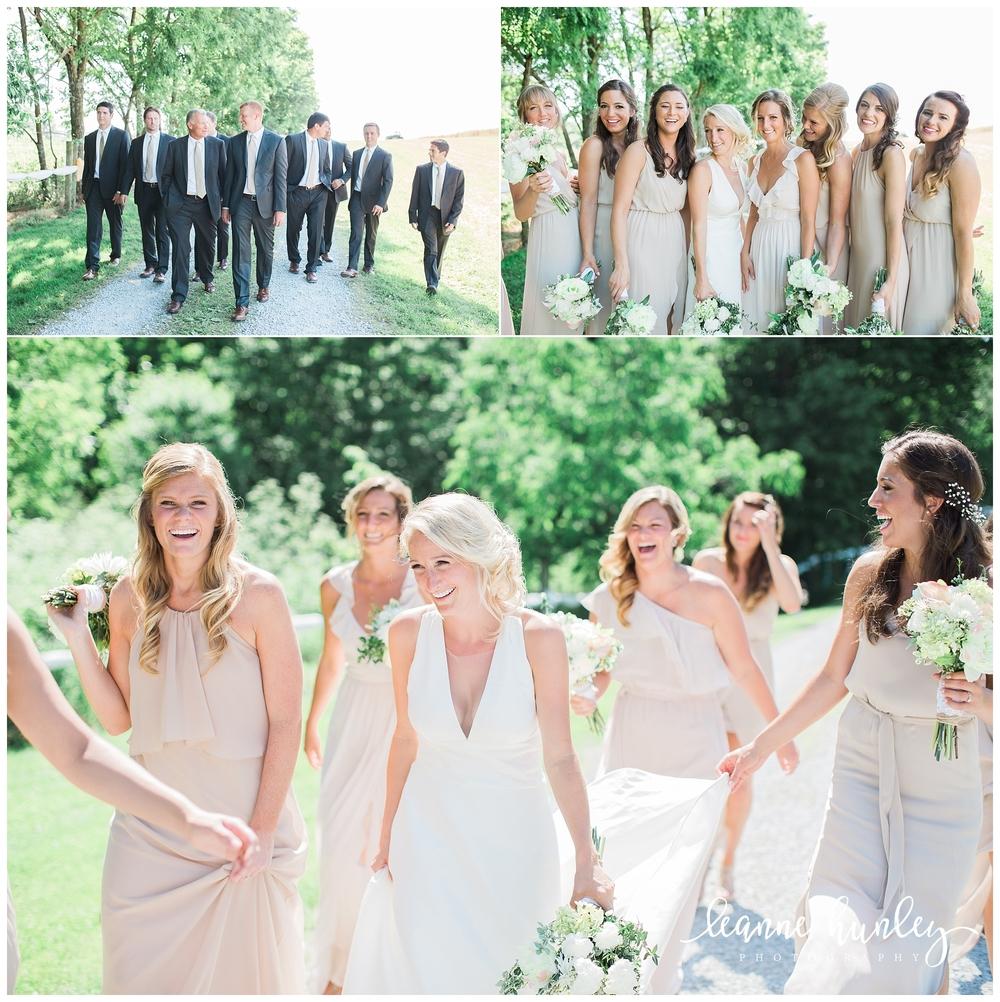 bridal party in kentucky wedding