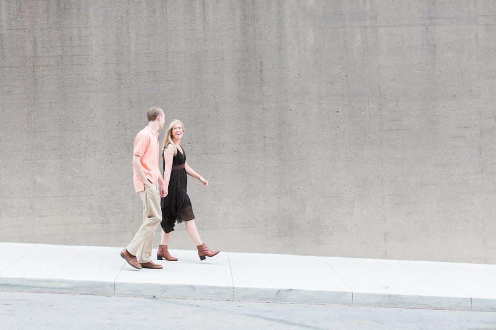 couple walking in covington