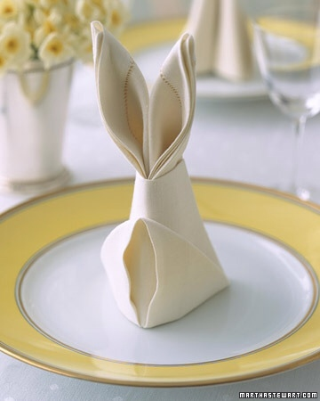 Bunny Ear Napkin Fold