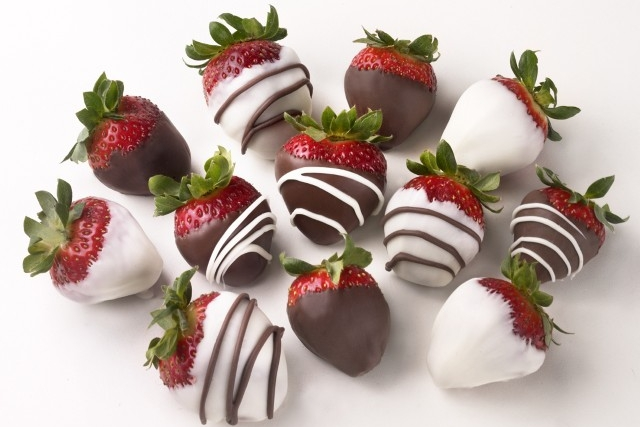 Valentines day chocolate strawberries